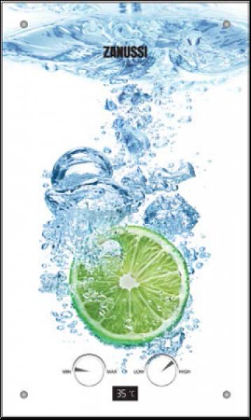 Incalzitor de apa cu gaz GWH 10 Fonte Glass LIME