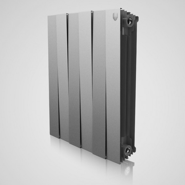Radiator bimetal Piano Forte 500 Silver Satin Royal Thermo