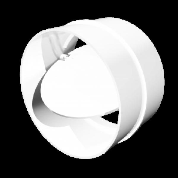 Conector pentru canale rotunde cu supapă de reținere